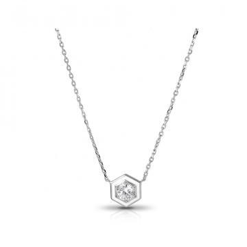 Колье SOKOLOV из серебра с эмалью и фианитами