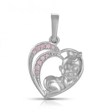Подвеска TALANT Сердце из серебра с фианитами