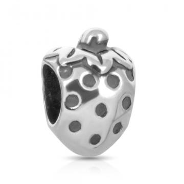Подвеска-шарм Клубника из серебра