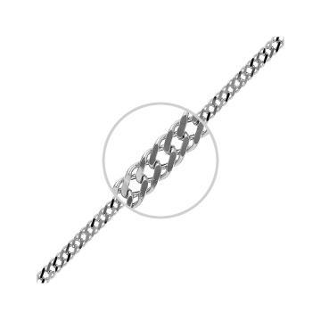Браслет, плетение Ромб двойной, из серебра