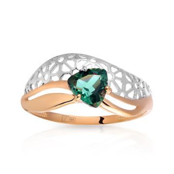 Кольцо с кварцем из золота
