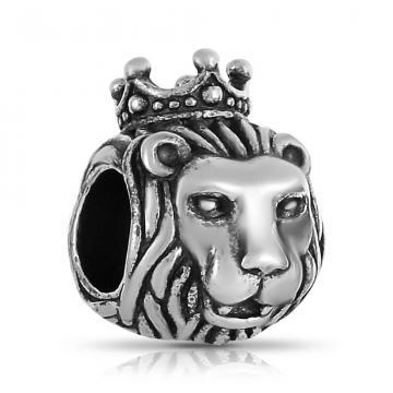 Подвеска-шарм Лев из серебра
