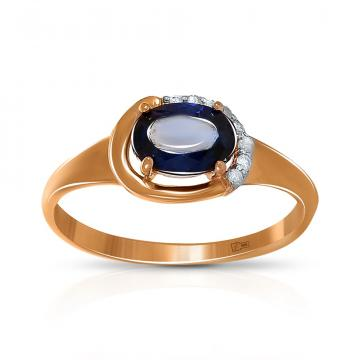 Кольцо TALANT из золота с сапфиром и бриллиантами