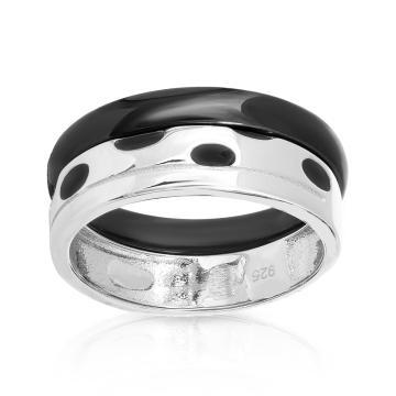 Кольцо из серебра с керамикой и эмалью