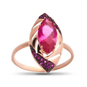 Кольцо с рубинами из золота