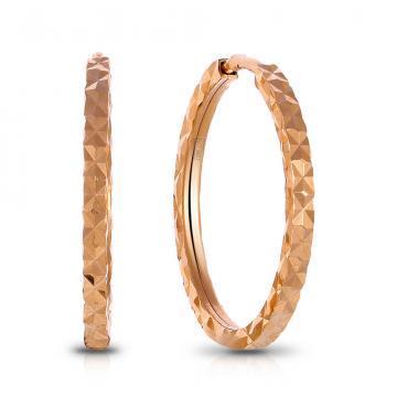 Серьги-конго из золота, 1,4 мм