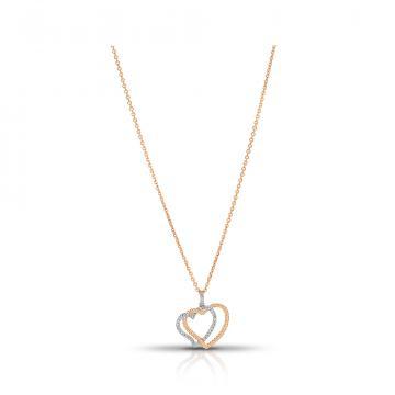 Колье Сердце из золота с бриллиантами