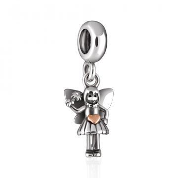 Подвеска-шарм Фея из золота и серебра, коллекция АНДОРА