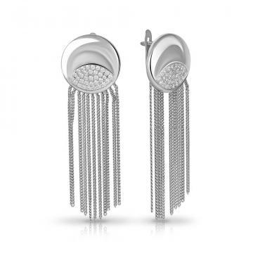 Серьги TALANT из серебра с фианитами
