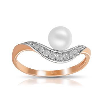 Кольцо TALANT из золота с жемчугом и фианитами