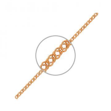 Браслет, плетение двойной Ромб, из золота
