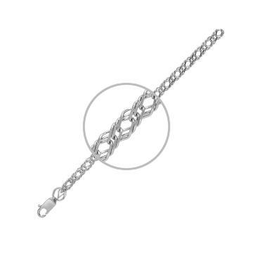 Цепочка, плетение Ромб тройной, из серебра