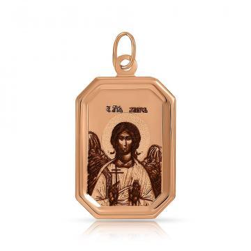 Подвеска-икона Ангела-Хранителя из золота