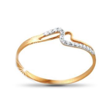 Кольцо детское из золота с фианитами