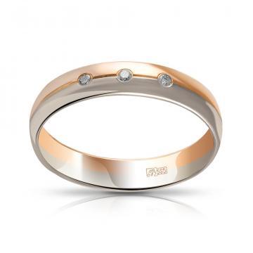 Кольцо TALANT обручальное из золота с бриллиантами