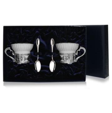 Набор чайный (4 предмета) из серебра
