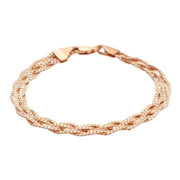 Браслет, плетение Косичка Париджина, из золота