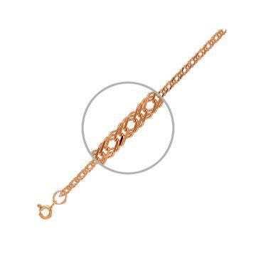 Цепочка TALANT, плетение Ромб тройной, из золота