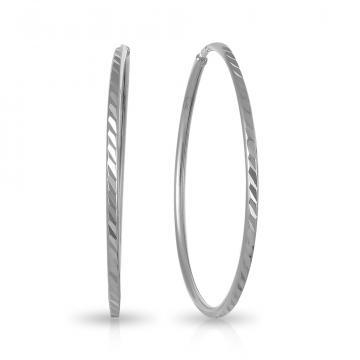 Серьги-конго из серебра