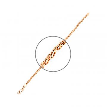 Браслет, плетение Перлина Косичка, из золота