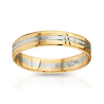 Кольцо обручальное из золота гладкое, синтеринг, 4 мм