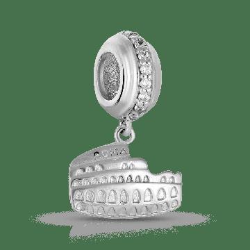 Подвеска-шарм Колизей SOKOLOV с фианитами из серебра