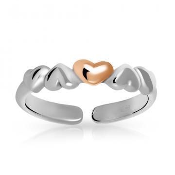 Кольцо из золота и серебра, коллекция АНДОРА