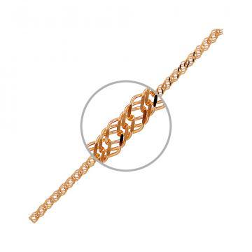 Цепочка, плетение Ромб тройной, из золота