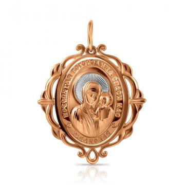 Подвеска-икона Казанская из золота