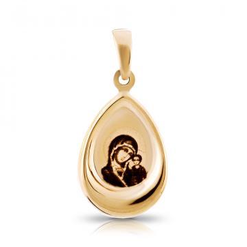 Подвеска-икона Казанской Божией Матери из золота