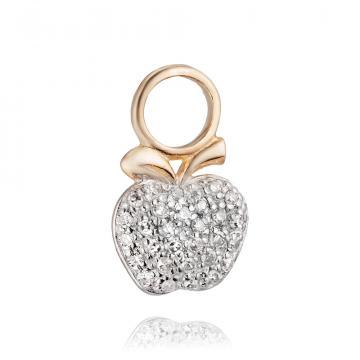 Подвеска Яблоко из золота с бриллиантами