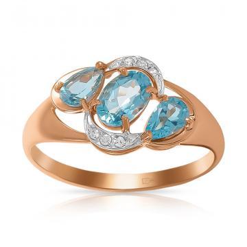 Кольцо SOKOLOV из золота с топазами и фианитами