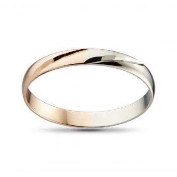 Кольцо обручальное, синтеринг, из золота, 3 мм