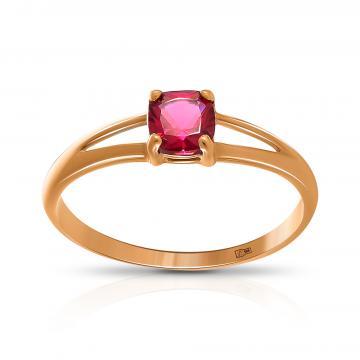 Кольцо из золота с рубеллитом