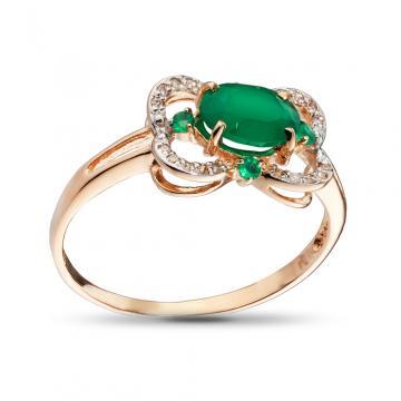 Кольцо из золота с агатами и бриллиантами