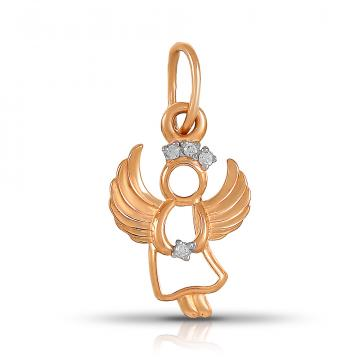 Подвеска TALANT Ангел из золота с фианитами