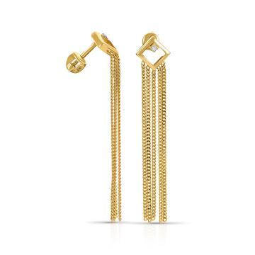 Серьги-пусеты TALANT из золота с бриллиантами