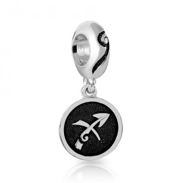 Подвеска-шарм, знак зодиака Стрелец, из серебра