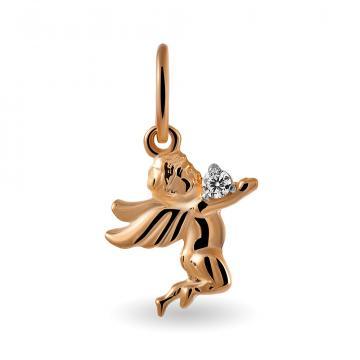 Подвеска Ангел с фианитом из золота