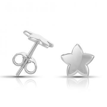 Серьги-пусеты детские TALANT Звезды из серебра, коллекция Геометрия
