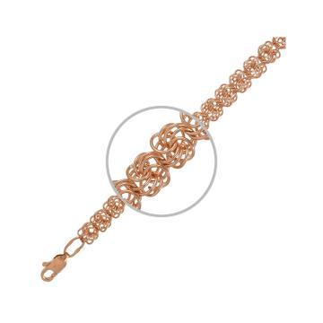 Браслет, плетение Розочка, из золота
