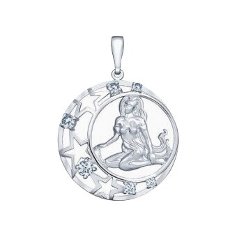 Подвеска SOKOLOV из серебра с фианитами, знак зодиака Дева