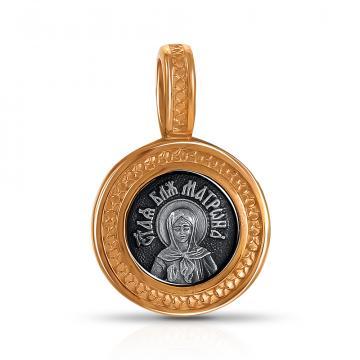 Подвеска-икона Святая Блаженная Матрона Московская из серебра