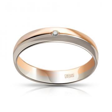 Кольцо TALANT обручальное из золота с бриллиантом