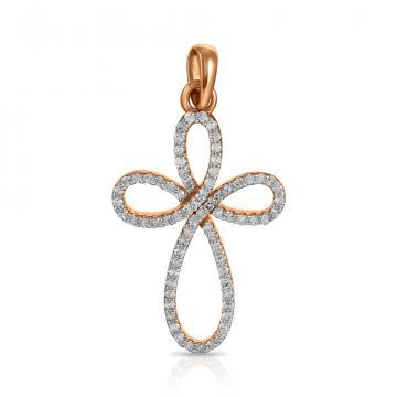 Подвеска-крестик TALANT из золота с бриллиантами