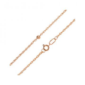 Браслет на ногу (анклет), плетение Корда, из золота