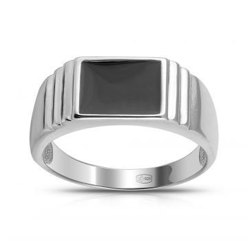 Кольцо-печатка SOKOLOV из серебра с эмалью
