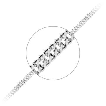 Цепочка TALANT, плетение Ромб двойной, из серебра