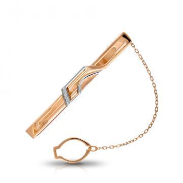 Зажим для галстука из золота с бриллиантами