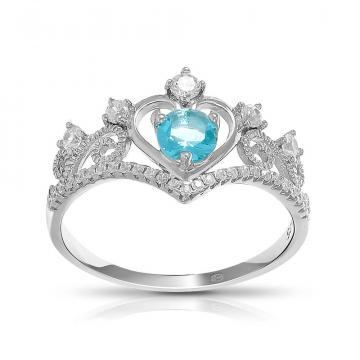 Кольцо из серебра с кварцем